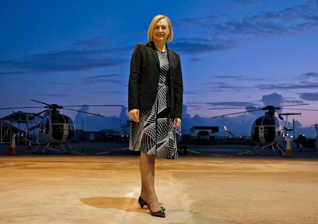 <p>Elizabeth Spehar, United Nations special representative and head of the U.N. Peacekeeping Force in Cyprus (UNFICYP), poses for a picture after a Peace Medals ceremony at the old Nicosia airport in the U.N. buffer zone on February 22, 2018. (Photo: Amir Makar/AFP/Getty Images) </p>
