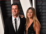 """<p>After two years of marriage, Aniston and Theroux <a href=""""https://www.marieclaire.com/celebrity/a18203785/jennifer-aniston-justin-theroux-divorce/"""" rel=""""nofollow noopener"""" target=""""_blank"""" data-ylk=""""slk:called it quits"""" class=""""link rapid-noclick-resp"""">called it quits</a>. The breakup was rumored to be caused by the couple's difference in opinion over where to live. Theroux saw himself as more of a New Yorker, while Aniston preferred her Los Angeles home.</p>"""