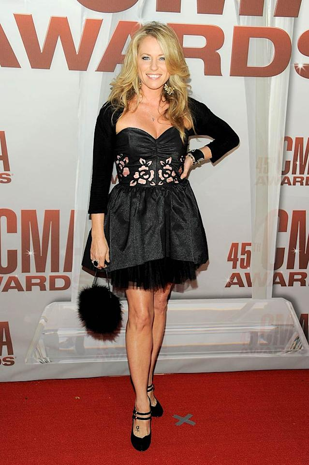 """Strawberry Wine"" songstress Deana Carter, who won a CMA 14 years ago and hasn't been nominated since 1998, was back in running for a Song of the Year award for the Kenny Chesney and Grace Potter tune, ""You and Tequila."" (11/8/2011)"