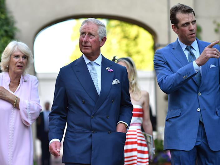 Ben Elliot (far right) with his aunt, Camilla, Duchess of Cornwall, and her husband the Prince of Wales (Getty)