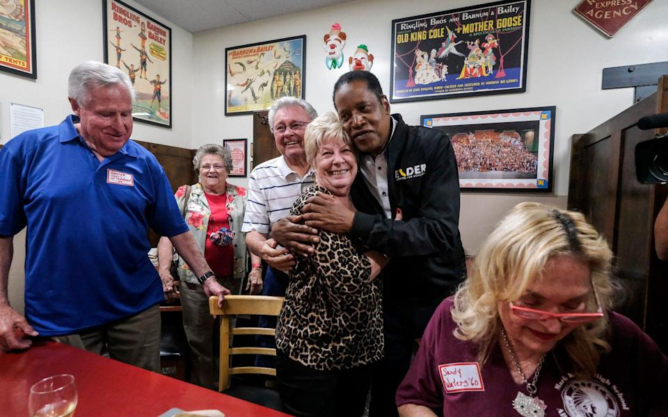 Larry Elder had hoped to pull off a shock win for the Republicans - AP