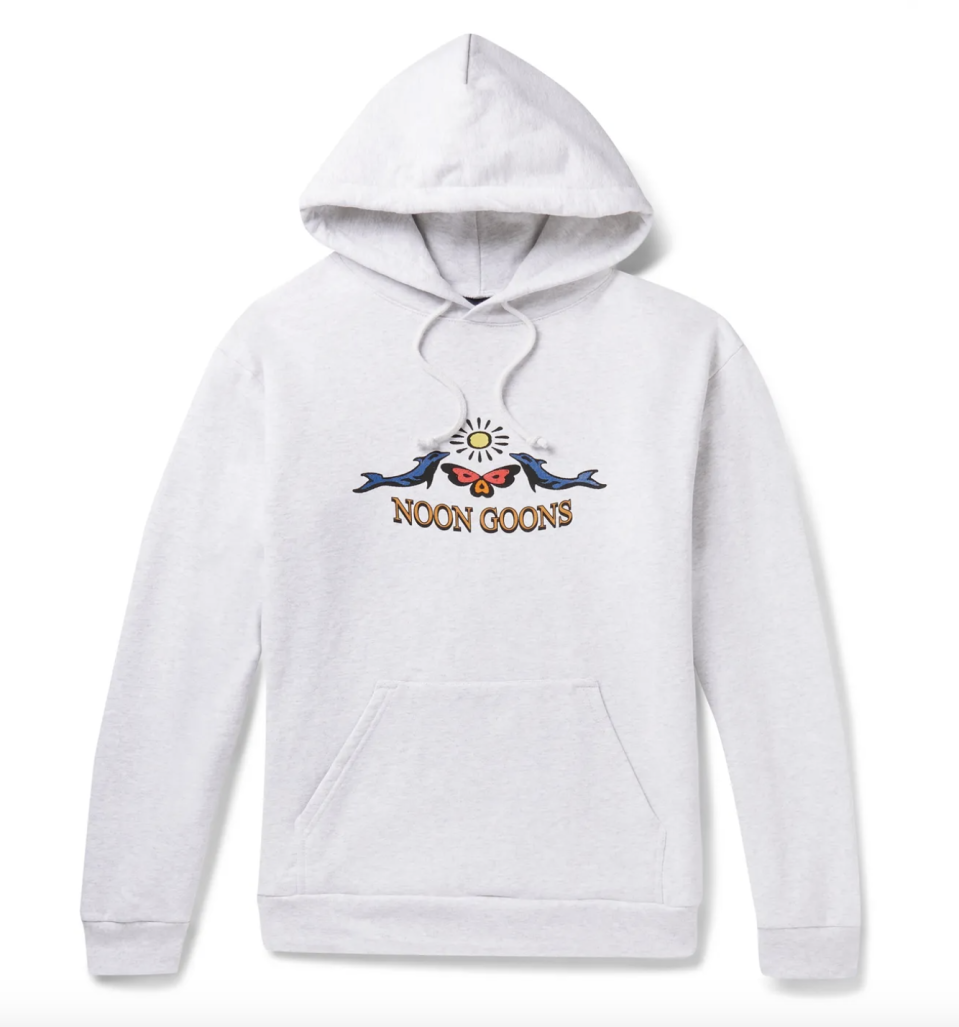"""<p><strong>Noon Goons</strong></p><p>mrporter.com</p><p><strong>$81.00</strong></p><p><a href=""""https://go.redirectingat.com?id=74968X1596630&url=https%3A%2F%2Fwww.mrporter.com%2Fen-us%2Fmens%2Fproduct%2Fnoon-goons%2Fclothing%2Fhoodies%2Fprinted-fleece-back-cotton-jersey-hoodie%2F8008779905270914&sref=https%3A%2F%2Fwww.esquire.com%2Fstyle%2Fmens-fashion%2Fg35083025%2Fmr-porter-end-of-season-sale-2020%2F"""" rel=""""nofollow noopener"""" target=""""_blank"""" data-ylk=""""slk:Buy"""" class=""""link rapid-noclick-resp"""">Buy</a></p>"""