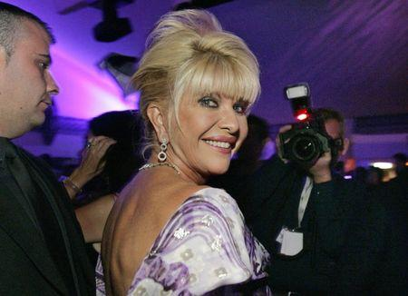 FILE PHOTO: Ivana Trump smiles at her belated birthday party at the Pangaea Soleil club during the 59th Cannes Film Festival in Cannes May 24, 2006.