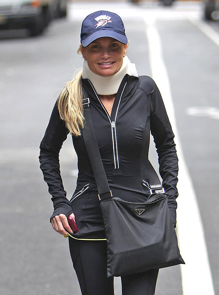 EXCLUSIVE: Injured actress Kristin Chenoweth seen sporting a neck brace in New York City for first time since her Good Wife accident. The star was spotted leaving a doctor's appointment in Manhattan with a male friend.