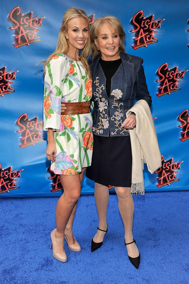NEW YORK, NY - APRIL 20: TV personalities Elisabeth Hasselbeck and Barbara Walters attend the Broadway opening night of 'Sister Act' at the Broadway Theatre on April 20, 2011 in New York City. (Photo by Joe Corrigan/Getty Images)