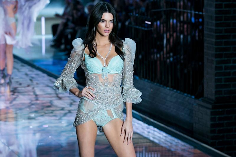 CNBC EVENTS -- 2015 Victoria's Secret Fashion Show -- Pictured: Model Kendall Jenner walks the runway during the 2015 Victoria's Secret Fashion Show in New York City on November 10, 2015. -- (Photo by: Adam Jeffery/CNBC)