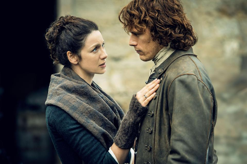 """<p>You have probably heard by now that <em>Outlander</em> has great sex scenes. And while that's very true—we even have <a href=""""https://www.glamour.com/story/best-outlander-sex-scenes?mbid=synd_yahoo_rss"""" rel=""""nofollow noopener"""" target=""""_blank"""" data-ylk=""""slk:a whole list of them"""" class=""""link rapid-noclick-resp"""">a whole list of them</a>—there are other reasons you'll love the show. Just a few on that list: tense battle scenes, high-stakes drama, and gorgeous period costumes.</p> <p><a href=""""https://www.netflix.com/title/70285581"""" rel=""""nofollow noopener"""" target=""""_blank"""" data-ylk=""""slk:Available to stream on Netflix"""" class=""""link rapid-noclick-resp""""><em>Available to stream on Netflix</em></a></p>"""