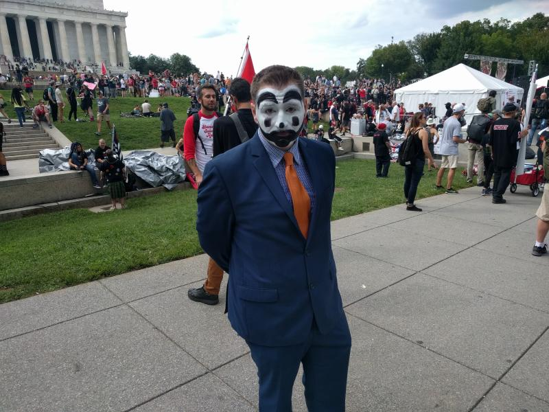 Christian Ike came from Los Angeles to protest the FBI's 2011 designation of juggalos as a gang. (Paul Blumenthal)
