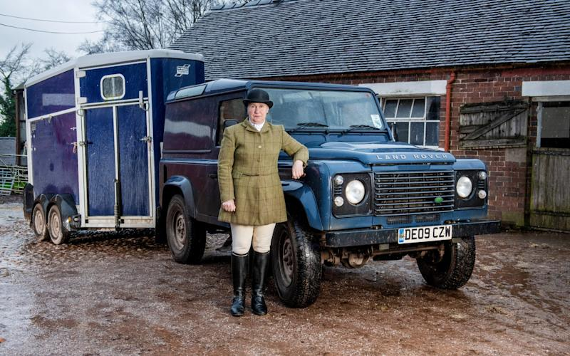 Mrs Mary Wynne- Jones says she caught an anti-hunting activist fitting a GPS tracker to her vehicle - paul cooper