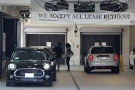 A newly-reopened Mini dealership is seen, as the global outbreak of the coronavirus disease (COVID-19) continues, in Santa Monica