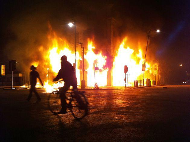 The riots started when peaceful protests against the police shooting of Mark Duggan in Tottenham, north London, turned violent. The unrest quickly spread across the UK to cities including Manchester, Bristol and Merseyside. (Photo: Matthew Lloyd via Getty Images)