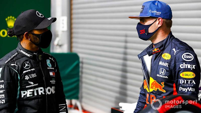 Lewis Hamilton and Max Verstappen at Belgian GP 2020
