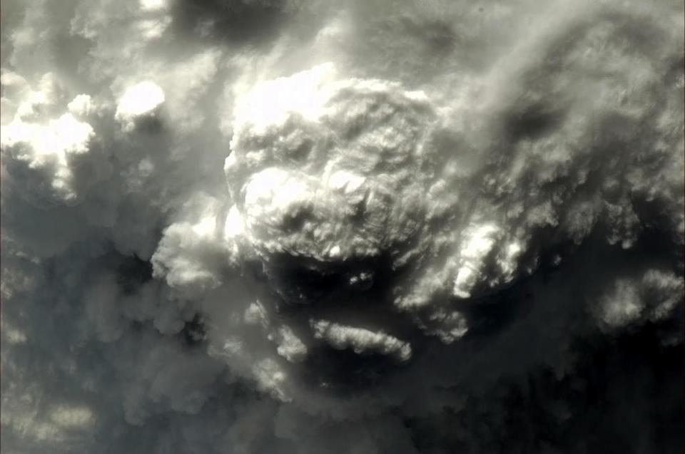"""Thunderstorm from above. What animal to you see? <a href=""""https://twitter.com/Cmdr_Hadfield/status/288726744381403138/photo/1"""" rel=""""nofollow noopener"""" target=""""_blank"""" data-ylk=""""slk:(Photo by Chris Hadfield/Twitter)"""" class=""""link rapid-noclick-resp"""">(Photo by Chris Hadfield/Twitter)</a>"""
