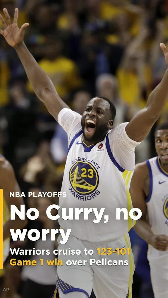 In what will likely be their last game before Steph Curry's return, the Warriors didn't leave much room for improvement. Instead, they fired on all cylinders as Draymond Green and Kevin Durant led a 123-101 thrashing of the Pelicans to take Game 1 of the Conference Semifinals.