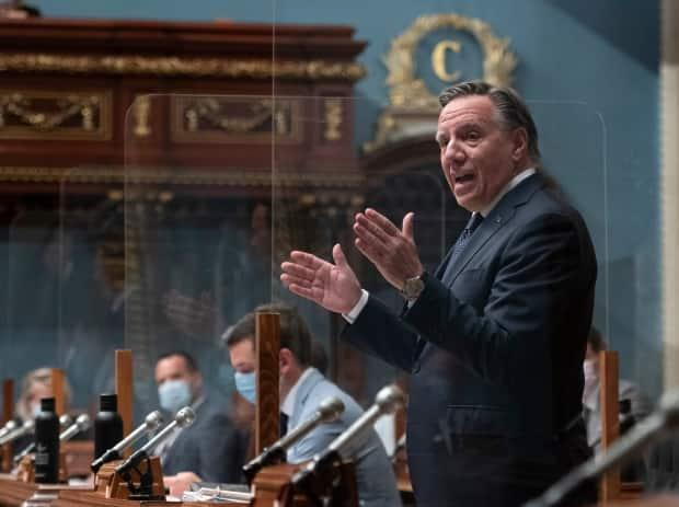 Quebec Premier François Legault was criticized for fueling partisanship and lacking empathy during debates on systemic racism at the National Assembly last week, while events were taking place to commemorate victims of residential schools. (Jacques Boissinot/The Canadian Press - image credit)