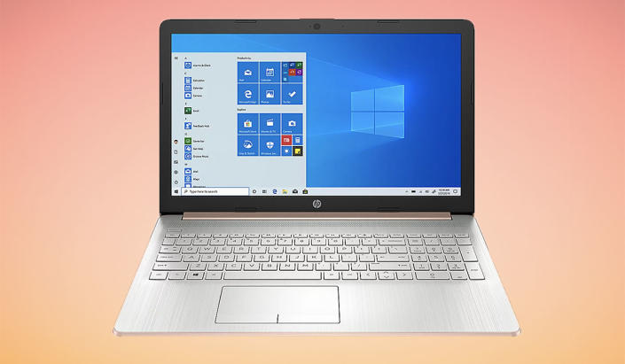The HP 17 Touch Laptop is on sale for $750. (Photo: QVC\)