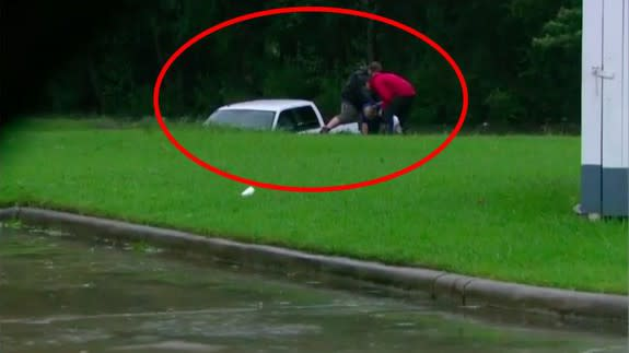 CNN reporter rescues man trapped in floodwaters on live TV