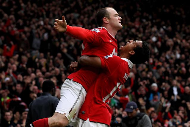 <p>What a way to win a derby. With less than 13 minutes to go, Nani's deflected cross came to Rooney at an awkward angle. Nevermind that, though, as the England forward pulled out a textbook overhead kick into the far corner, leaving Joe Hart without a prayer. </p>