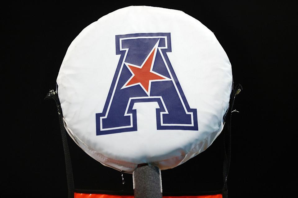 NEW ORLEANS, LA - SEPTEMBER 24:  The American Athletic Conference logo is seen during a game at Yulman Stadium on September 24, 2016 in New Orleans, Louisiana.  (Photo by Jonathan Bachman/Getty Images)
