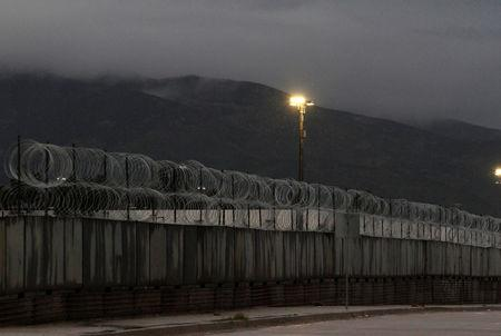 The border fence between Mexico and the U.S. is seen in Tijuana, Mexico, February 14, 2019. REUTERS/Jorge Duenes