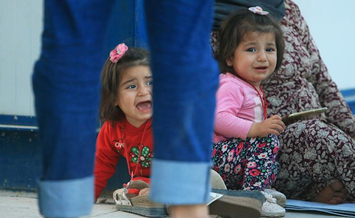 Syrian displaced children who fled violence after the Turkish offensive against Syria, arrived at the Domiz refugee camp on the outskirts of Dohuk, Iraq on Oct. 15, 2019. (Photo: Ari Jalal/Reuters)