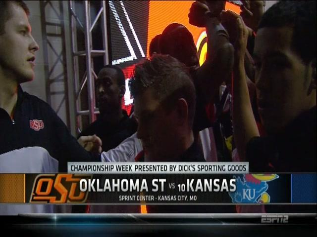 No. 10 Kansas beats Oklahoma State, 77-70 in OT