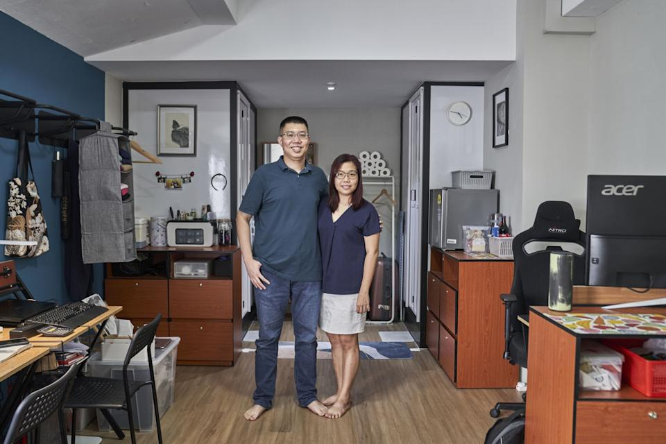 Simon Nguyen and his wife Amy at their ensuite studio in the Coliwoo at Lutheran.(PHOTO: Lauryn Ishak/Bloomberg)