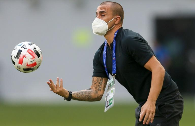 Under pressure: Guangzhou FC's coach Fabio Cannavaro appeared to be on the brink of the sack after failing to guide Guangzhou FC to a ninth CSL crown in 2020