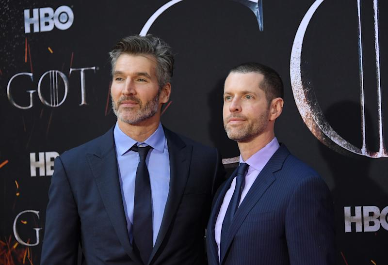 David Benioff and D. B. Weiss attend the
