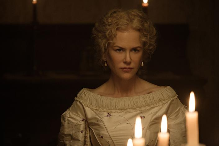 """Directed by Sofia Coppola &bull; Written by Sofia Coppola<br><br>Starring Nicole Kidman, Colin Farrell, Kirsten Dunst, Elle Fanning and Oona Laurence<br><br><strong>What to expect:&nbsp;</strong>Every Sofia Coppola movie is an event, but seeing her make a Southern Gothic horror deserves a phenomenon. """"The Beguiled"""" reimagines the&nbsp;1971 Clint Eastwood&nbsp;drama about a Civil War invalid camping out at a rural all-girls' boarding school. Things get twisted enough for this lone gentlemen to cry out, """"What have you done to me, you vengeful bitches?"""" Hell yes.<br><br><i><a href=""""https://www.youtube.com/watch?v=iBoLK5z_FHo"""" rel=""""nofollow noopener"""" target=""""_blank"""" data-ylk=""""slk:Watch the trailer"""" class=""""link rapid-noclick-resp"""">Watch the trailer</a>.</i>"""