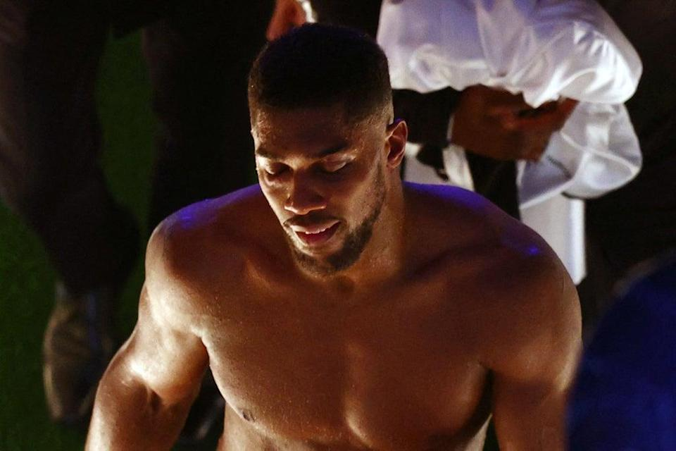 Anthony Joshua is already focused on winning a rematch against Oleksandr Usyk  (AFP via Getty Images)