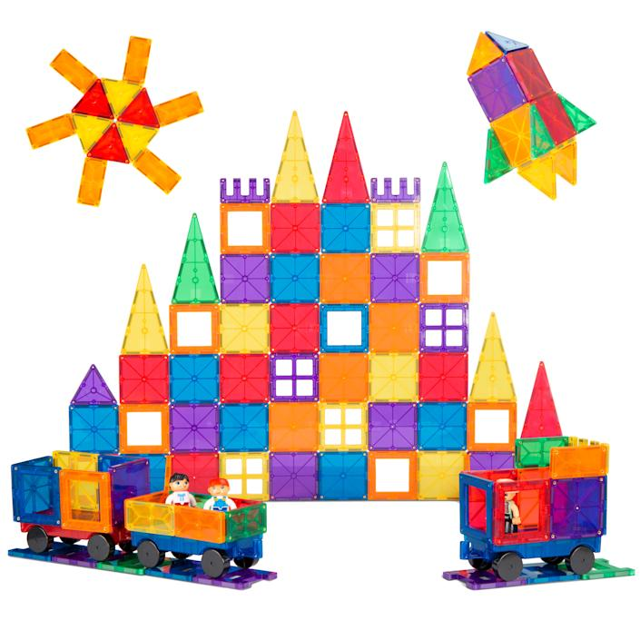 Best Choice Products 250-Piece Kids STEM 3D Magnetic Building Block Tile Toy Play Set (Walmart / Walmart)