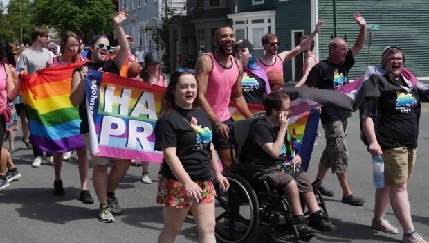 Marchers in a St. John's pride parade. The province, along with the rest of Canada, has had same-sex marriage since 2004.
