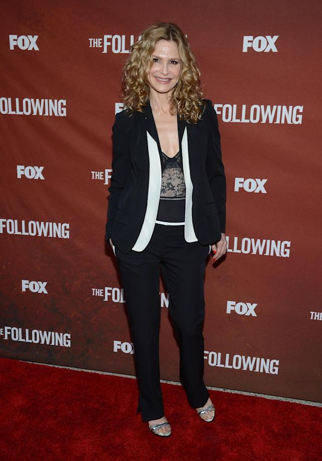 """NORTH HOLLYWOOD, CA - APRIL 29: Actress Kyra Sedgwick attends the screening of Fox's """"The Following"""" at Leonard H. Goldenson Theatre on April 29, 2013 in North Hollywood, California. (Photo by Jason Kempin/Getty Images)"""