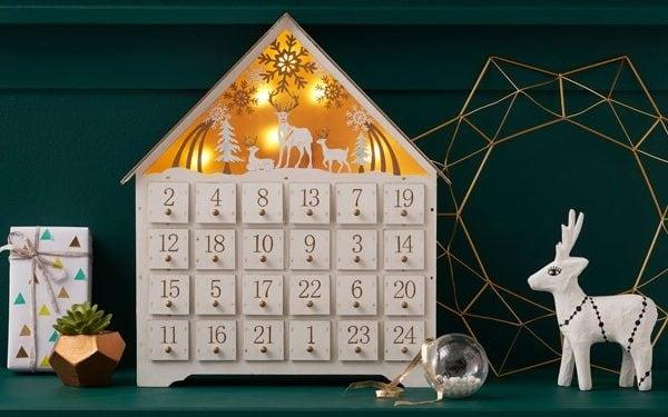 LED Wooden House Advent Calendar from Hobbycraft - Hobbycraft