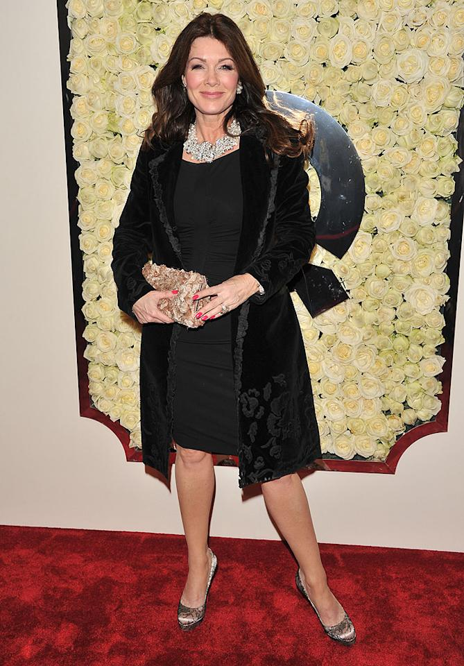 "BEVERLY HILLS, CA - FEBRUARY 23:  Lisa Vanderpump attends the QVC's""Buzz On The Red Carpet"" Cocktail Party at Four Seasons Hotel Los Angeles at Beverly Hills on February 23, 2012 in Beverly Hills, California.  (Photo by George Pimentel/WireImage)"