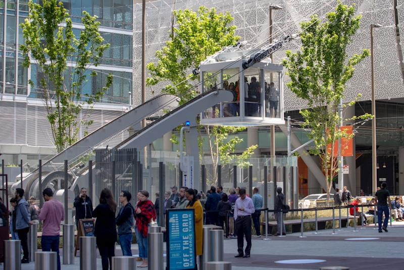 The $2 billion dollar Salesforce Transit Center in San Francisco, US on Monday, July 1, 2019. (Karl Mondon/MediaNews Group/The Mercury News via Getty Images)