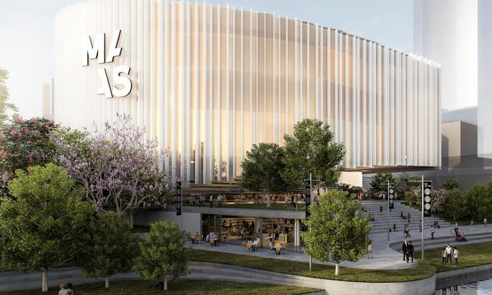 An artist impression of the new Powerhouse Museum in Parramatta.
