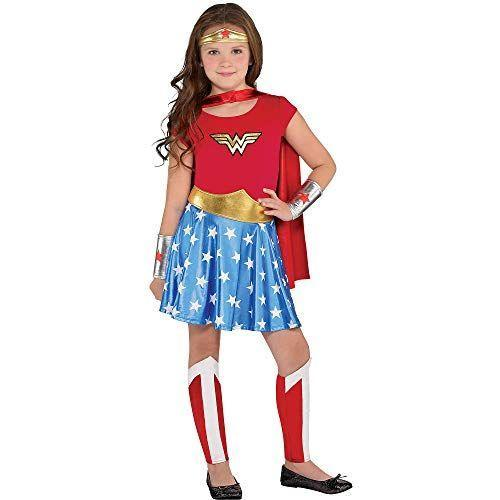 """<p><strong>Costumes USA</strong></p><p>amazon.com</p><p><strong>$28.99</strong></p><p><a href=""""https://www.amazon.com/dp/B07QMYLZG1?tag=syn-yahoo-20&ascsubtag=%5Bartid%7C10050.g.23785711%5Bsrc%7Cyahoo-us"""" rel=""""nofollow noopener"""" target=""""_blank"""" data-ylk=""""slk:Shop Now"""" class=""""link rapid-noclick-resp"""">Shop Now</a></p><p>With the long-awaited <em>Wonder Woman 1984 </em>set to <a href=""""https://www.harpersbazaar.com/culture/film-tv/a9976876/wonder-woman-2-movie-sequel/"""" rel=""""nofollow noopener"""" target=""""_blank"""" data-ylk=""""slk:finally hit theaters"""" class=""""link rapid-noclick-resp"""">finally hit theaters</a> in August, it's a safe bet little girls everywhere will want to dress like their<a href=""""https://www.countryliving.com/diy-crafts/g28411859/diy-wonder-woman-costume/"""" rel=""""nofollow noopener"""" target=""""_blank"""" data-ylk=""""slk:favorite superhero"""" class=""""link rapid-noclick-resp""""> favorite superhero</a> this Halloween.</p>"""