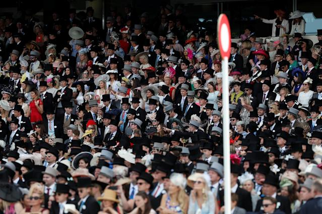 Horse Racing - Royal Ascot - Ascot Racecourse, Ascot, Britain - June 23, 2018 General view of racegoers during the 2.30 Chesham Stakes Action Images via Reuters/Paul Childs