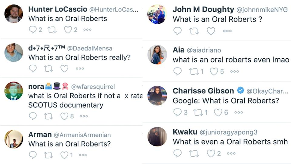 Twitter users asked the question on everybody's minds after Oral Roberts upset Ohio State.