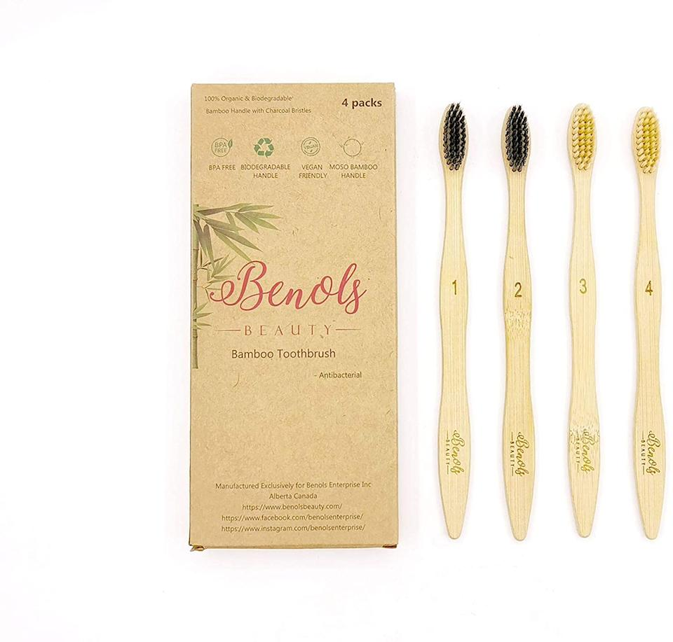Benols Beauty Bamboo Toothbrush (Photo via Amazon)