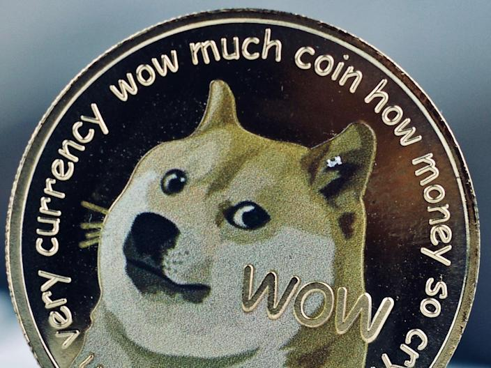 Dogecoin fans are hoping Elon Musk will help push the price higher by mentioning it during his appearance on Saturday Night Live (SNL) on 8 May, 2021 (Getty Images)