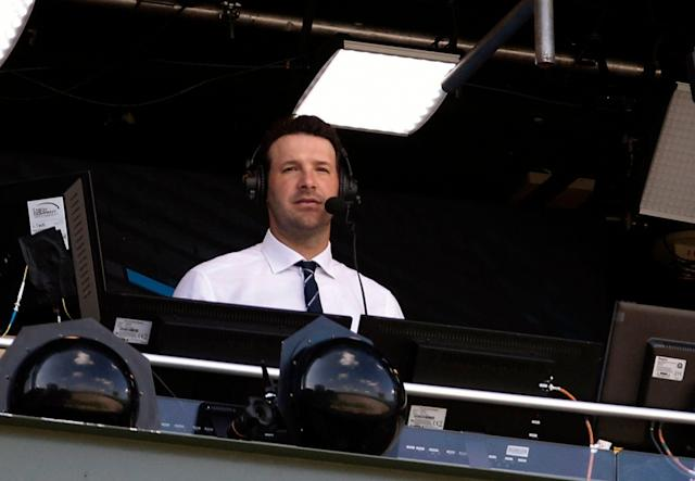 Tony Romo could be entering uncharted territory in the world of sports broadcasting. (AP Photo/Mike Roemer, File)