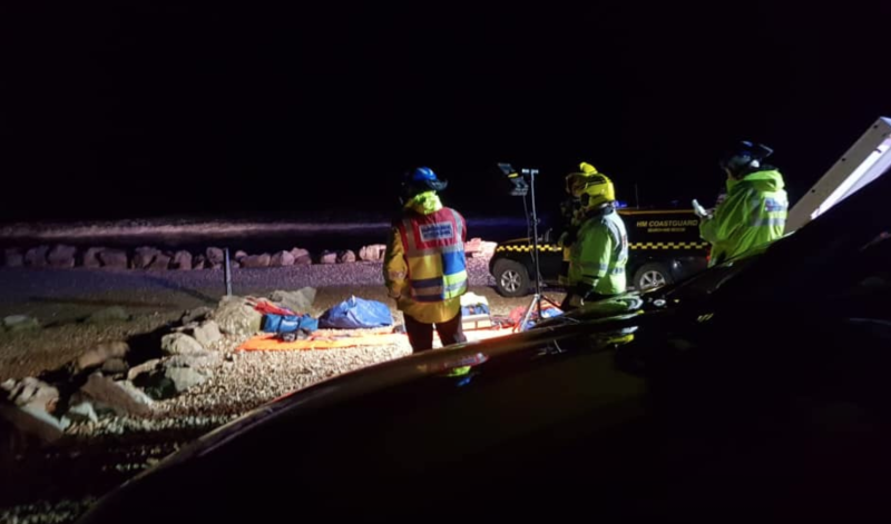 Emergency services rescued the casualties and they were taken to hospital to be checked over (Picture: Facebook/Southbourne Coastguard)