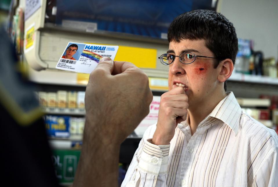 Christopher Mintz-Plasse as Fogell aka McLovin in 'Superbad' (Photo: Columbia Pictures/courtesy Everett Collection)