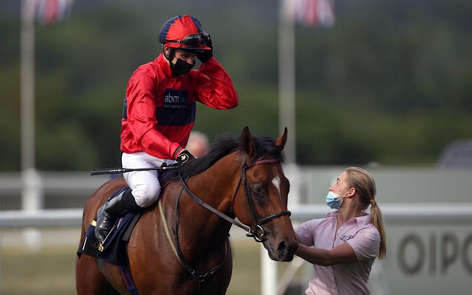 Chipotle and jockey Charles Bishop after winning the Windsor Castle Stakes - PA