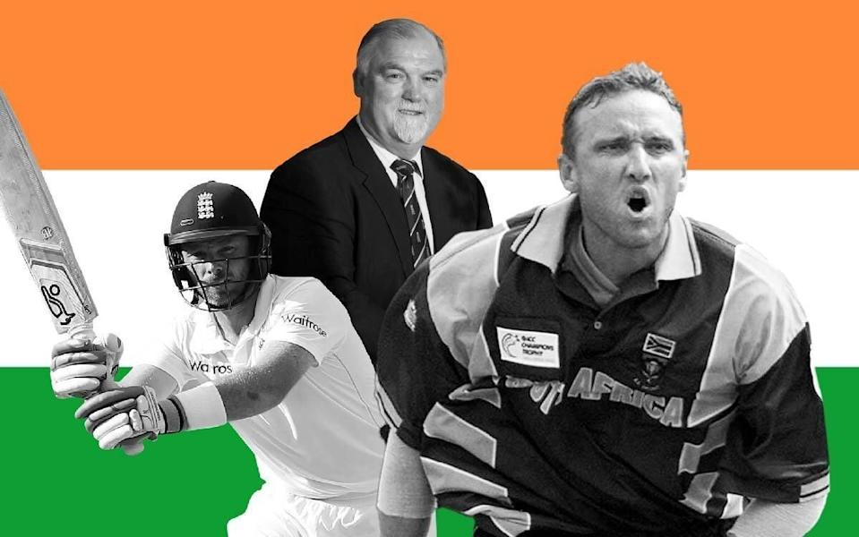 Ian Bell, Mike Gatting and Allan Donald.