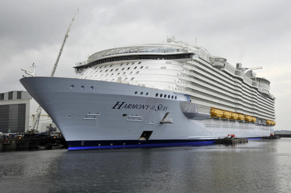 Royal Caribbean's Harmony of the Seas. (Photo: Getty Images)