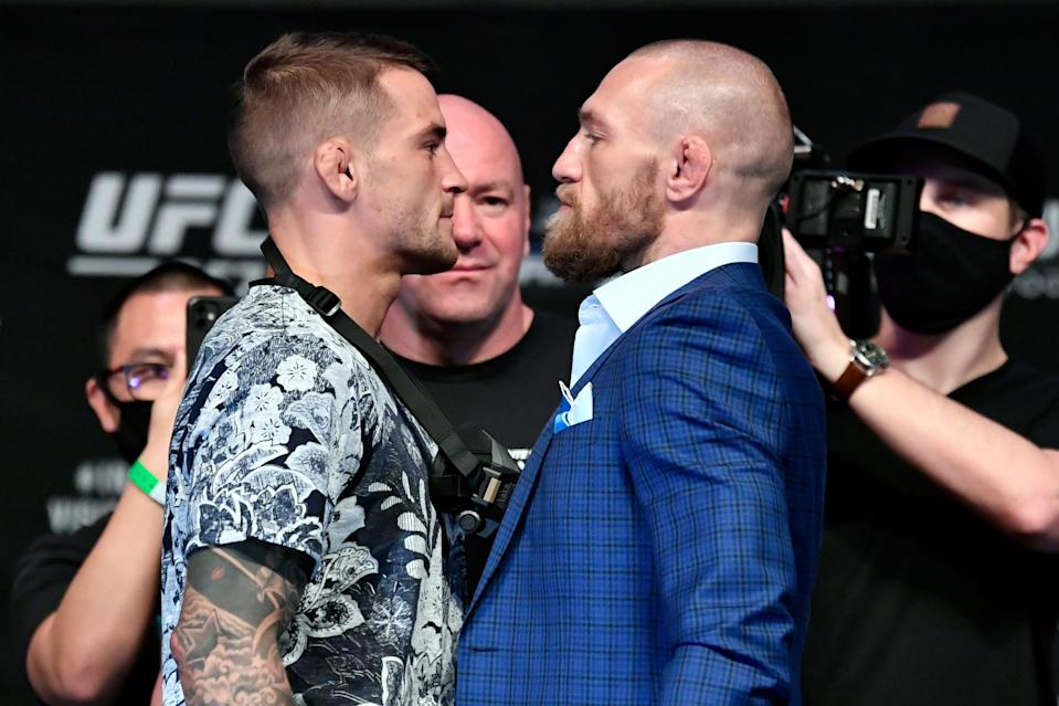 Dustin Poirier and Conor McGregor clash for the second time at UFC 257Zuffa LLC via Getty Images